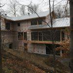 Projet de toiture sur maison neuve à plusieurs étages en acier galvanisé installée par Toiture Corbeil