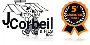 logo de l'entreprise familiale Toiture Corbeil et fils, 5e génération